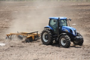 Land Preparation by new Holland Tractor Supplied by LVT