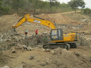 Construction Site JCB